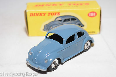 P Dinky Toys 181 Vw Volkswagen Beetle Kafer Blue Spun N Mint Boxed Rare Selten