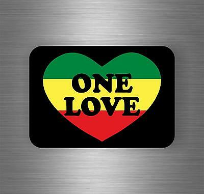 Sticker car decal rasta reggae jah macbook lion of judah one love rastafarai r8
