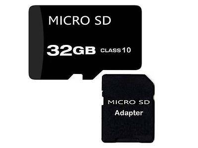 32 GB T Flash Micro SD Memory Card Class 10 With Free Adapter For HTC Samsung UK