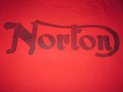 Norton Motorcycle Vintage 80S Tee Shirt Commando Med