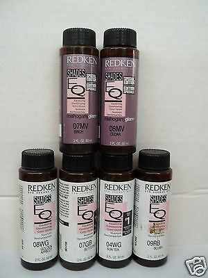 Redken SHADES EQ Gloss Liquid Hair Color 2 oz ~ LOT of 6 ~ WORLD WIDE FREE SHIP!