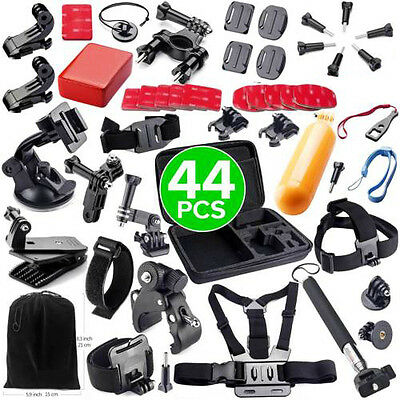 44in1 Accessories Pack Case Chest Head Monopod For GoPro 4 3+ 3 2 Go pro HD Hero