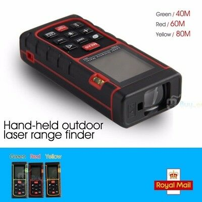40/60/80M Digital Laser Distance Meter Test Range Finder Measure Diastimeter UK