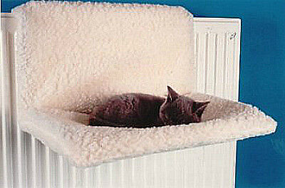 Pet Cat Radiator Bed Kitten Warm Sheepskin Fx Fleece Hammock Cradle Basket 41