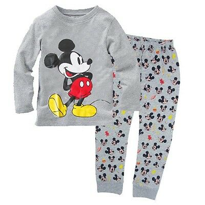 Mickey Mouse Baby Boys Girl Kids Homewear Sleepwear Pyjamas set Outfit Clothes