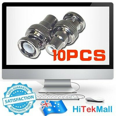 New 10Pcs BNC Male to RCA Female Coax Coaxial Connector Adapter for CCTV camera