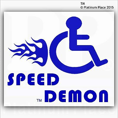 Speed Demon-Funny Joke Disabled Car,Van Sticker-Disability Mobility Sign-EXT BW
