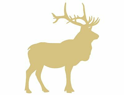 Elk Unfinished MDF Wood Cutout Variety of Sizes USA Made Home Forest Decor