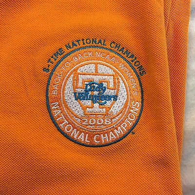 Tennessee Volunteers Lady Vols National Championship Polo Orange NWT Sz Large