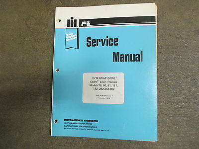 Set ih cub cadet 182 282 382 lawn tractor service repair manual shop cub cadet ih 76 80 81 111 182 282 382 tractor service repair manual fandeluxe Image collections