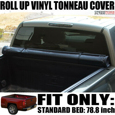 Low Profile Roll Up Tonneau Cover 07-13/14 Chevy Silverado/Gmc Sierra 6.5 Ft Bed