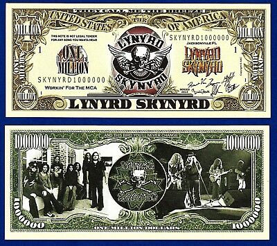 MONEY-U2 Queen Rock Music Band Million Dollar Bills Collectible FAKE 25