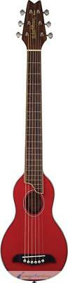 Washburn Rover RO10R Travel Guitar Translucent Red Acoustic Travel Guitar (Red)