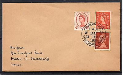 GB = 1969 `LAST DAY OF 1/2d / HALFPENNY GREEN / STOURBRIDGE` Event cover (c)