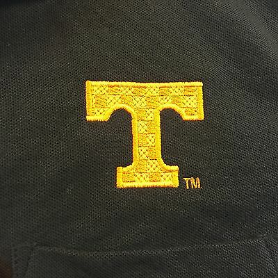 Mens Tennessee Volunteers Vols Black Polo Sz Small NWT By Blue Generation Golf