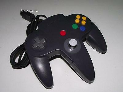 Genuine Nintendo 64 N64 Charcoal Black Controller Refurbed Toggle Original