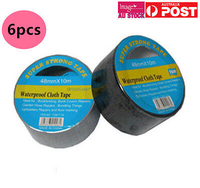 6x 48mmx10m Waterproof Cloth Tape Self Adhesive Color Randomly Send TOM-T116