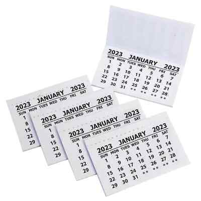 50 X 2017 Calendar Tabs / Insert White Mini Calender Tear Off Pads Month To View