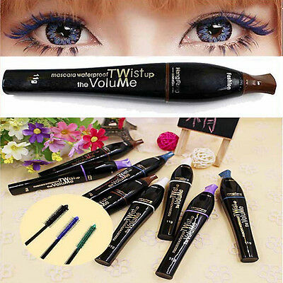 4 Colour Cosmetic Makeup Mascara Curling Eyelash Extension Long Fiber Lashes