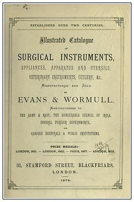 Illustrated Catalogue of Surgical Instruments – Vintage Medical Tools Catalog CD