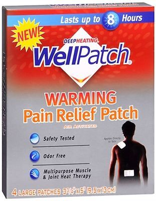 WellPatch Warming Pain Relief Patch 4 Each (Pack of 3)