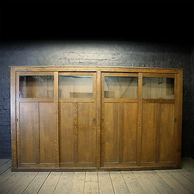 1950s Solid Oak workplace Closet with Sliding Doors (£1950 Ex VAT)
