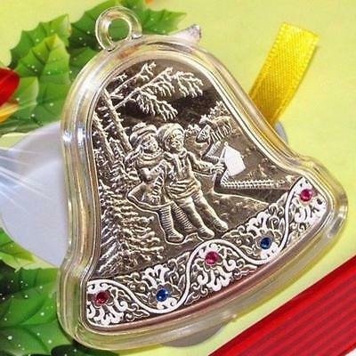 2013 Niue 2$ Christmas Bell Swarowski with LED Proof Silver Coin