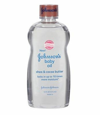 JOHNSON'S Baby Oil Shea - Cocoa Butter 14 oz (Pack of 2)