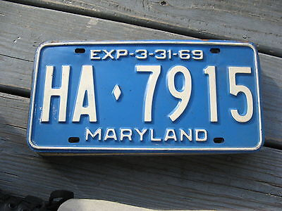 1968 68 1969 69 Maryland Md  License Plate Nice Tag Buy Me Now