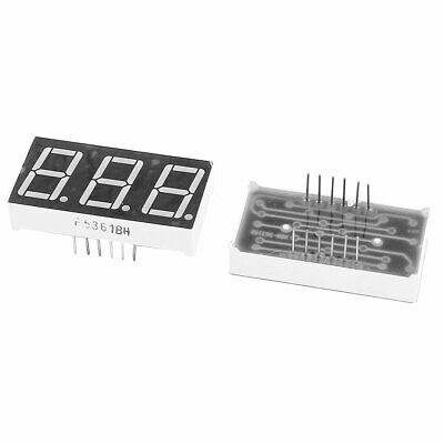 "2pcs 0.56"" 7 Segment 3 Digit Common Anode Red LED Digital Display"
