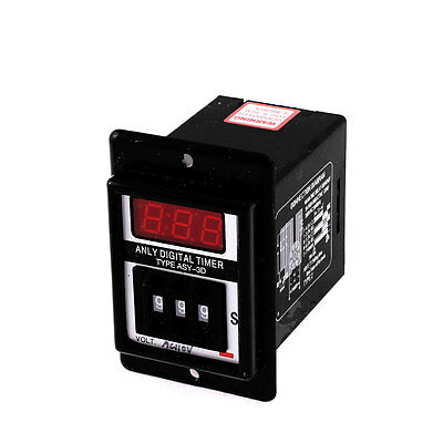 AC 110V 8 Pin 0.1-99.9 Second Digital Timer Time Delay Relay Black ASY-3D