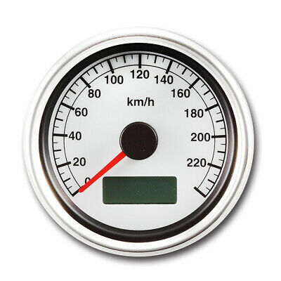 60mm White Face Electrical Motorcycle Speedometer Gauge