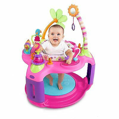 NEW Girly Sweet Safari Bounce-a-Round Fun Activity Center By Bright Starts