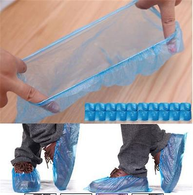 100pcs Practical Rain Waterproof Disposable Shoe Covers Overshoes Boot Covers