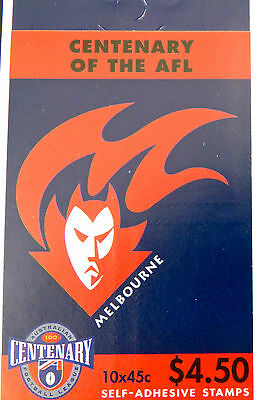 Australian Stamps: 1996 Centenary of AFL Booklet - Melbourne Demons