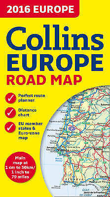 NEW 2016 Collins Road Map of Europe 1:5M by Collins Maps