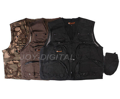Photography Lens 16 Pockets Photo Vest Jacket Quick Drying Outdoor Fishing