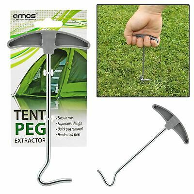 AMOS Tent Peg Extractor Puller Camping Steel Awning Stakes Hooks Remover Lifter