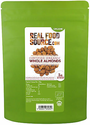 RealFoodSource Certified Organic Whole Natural Almonds