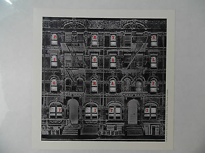"Led Zeppelin - Physical Graffiti Lithograph Promo Poster* 8"" x 8"" Limited"