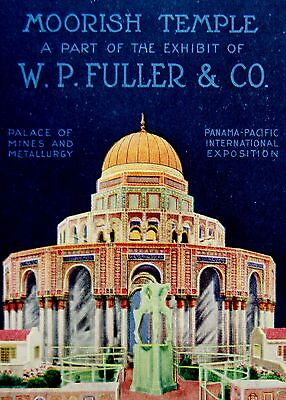 Moorish Temple 1915 PPIE Expo SF CA Fuller & Co. Exhibit Poster-style Postcard