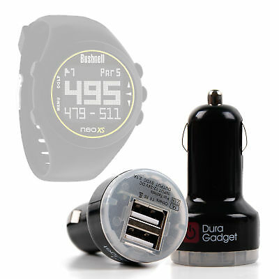 12V to Micro USB In-Car Charger for Bushnell Golf 2014 Neo XS Smartwatch