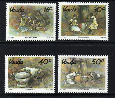 Venda 1988 Watercolours Paintings MNH