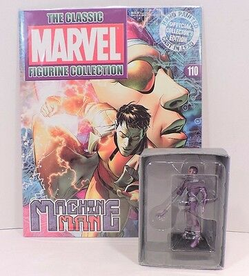 Eaglemoss The Marvel Figurine Collection Machine Man With The Magazine And Box