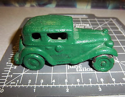 Cast iron sedan toy, vintage collectible, been repainted, otherwise fantastic