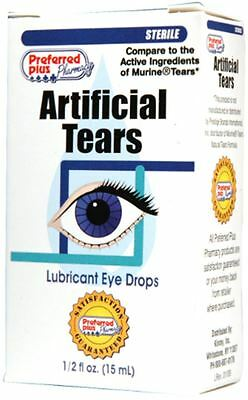 Artificial Tears Lubricant Eye Drops Lot Of 3 Cvs For Humans Dogs