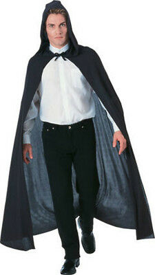 "58 ""Long Black Hooded Cloak /Cape - fits up to 44""chest"