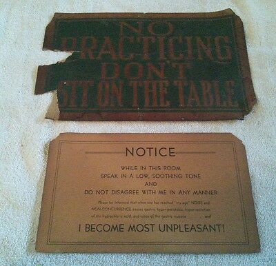 Old Paper Signs Old West Saloon Funny Rustic Bar Wall Decor Ephemera