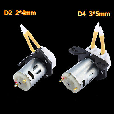 New  DC 12V D2 2*4mm D4 3*5mm Dosing Pump Peristaltic Head Lab Analytical Water