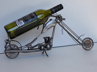 novelty gift metal wine bottle wine rack chopper  man cave bar wine rack
